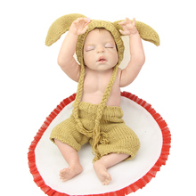 NPK 23 Inch Realistic Reborn Babies Doll Sleeping Full Body Silicone Lifelike Dolls Boy Christmas Birthday Gift