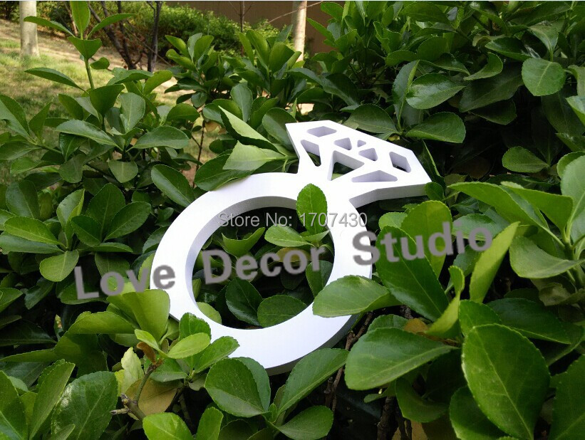 Merchandise Excellence Wedding Decoration Whte Big Size Diamond Ring Props Letter Wedding Props Marriage Props