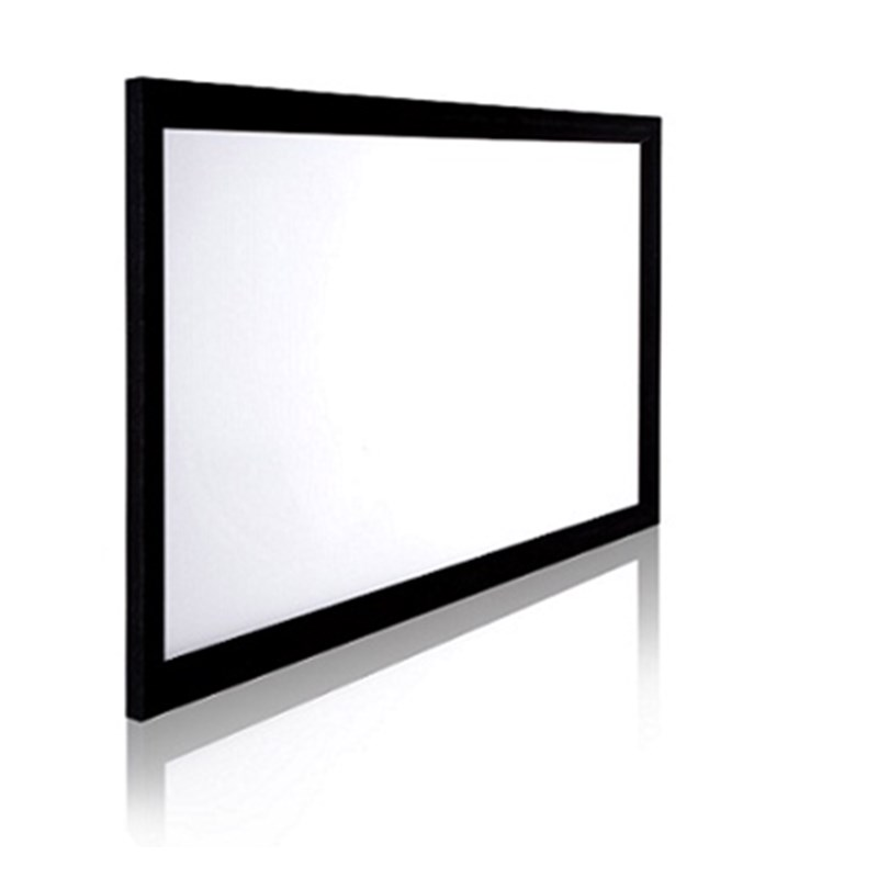 2.35:1 Aluminum Cinema Fixed Frame Projector Screen with Acoustically Transparent Fabric Screen and black velvet paradigm cinema trio gloss black