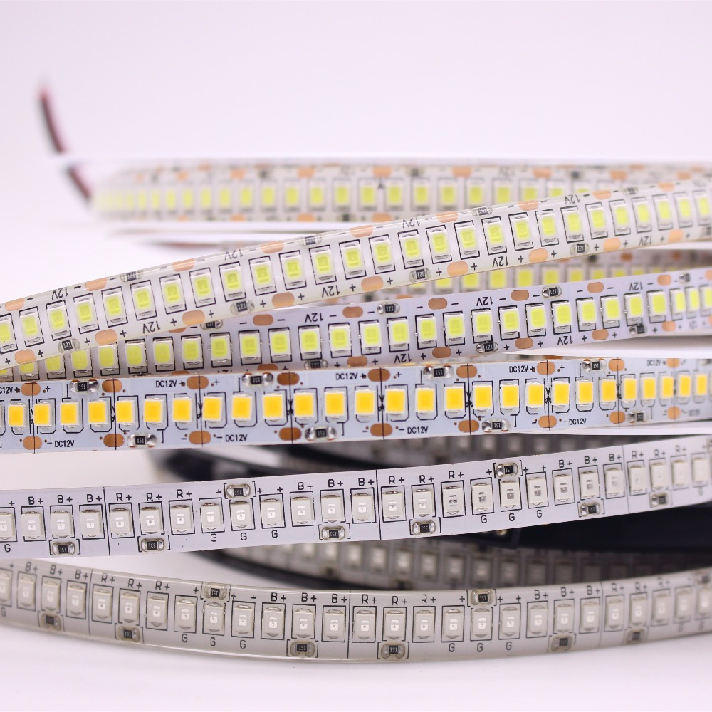LED Strip 2835 240LEDs/m DC12V High Brightness 234LEDs/m Flexible LED Light Warm White / White /RGB more brighter than 3528 sisjuly white m