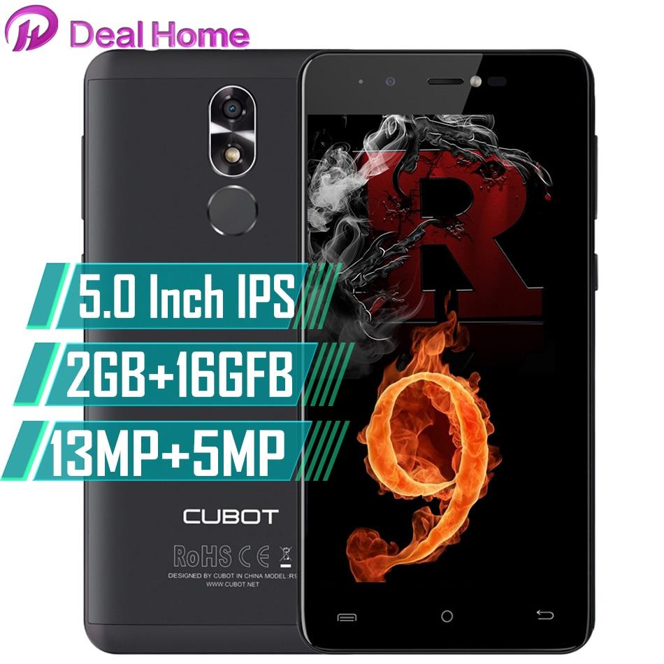 Original Cubot R9 5.0 pouces IPS HD 13MP 2 GB RAM 16 GB ROM téléphone portable ID tactile débloqué Android 7.0 Quad Core téléphone Mobile