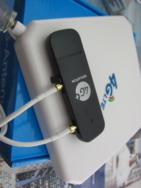 Оригинал Разблокировать HUAWEI E3372 150 4 Г LTE Usb-модем С 4 Г crc9 35DBI Двойной Антенны