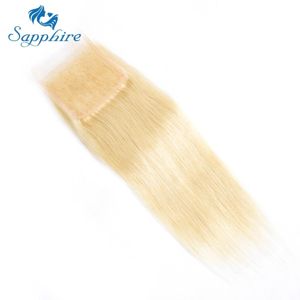 Safir 613 # Hårbrasilian Remy Hair Straight 613 Blonda Hårpaket Med - Barbershop - Foto 5