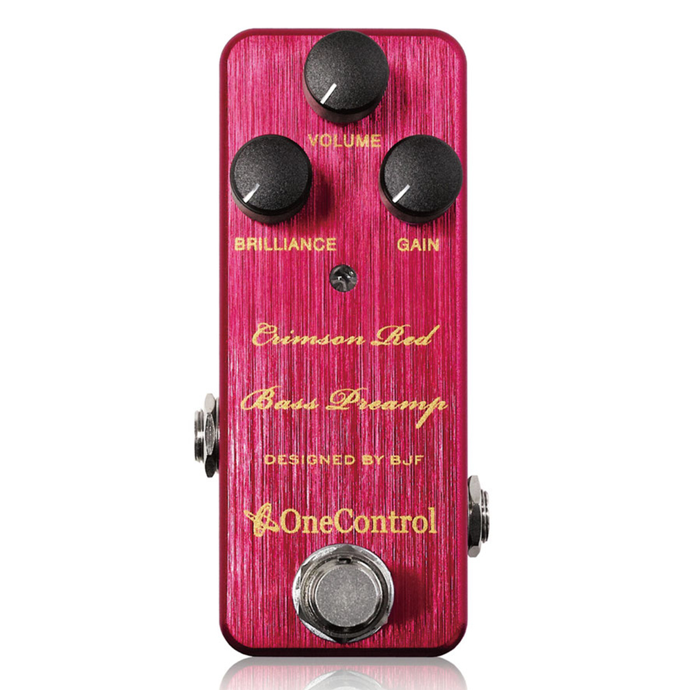 Japan One Control BJF Crimson Red Bass Preamp Guitar Bass Effect Pedal True Bypass japan one control bjf little copper chorus guitar effect pedal