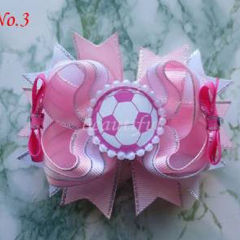"""100 BLESSING Good Girl Boutique Modern Style Dance 4.5"""" Hair Bow Clip 128 No."""