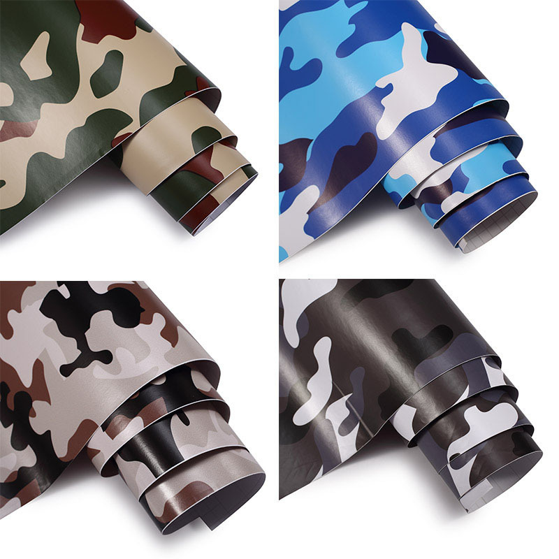 Camouflage Adhesive PVC Vinyl Film Car Wrap Army Camo Sticker 2018