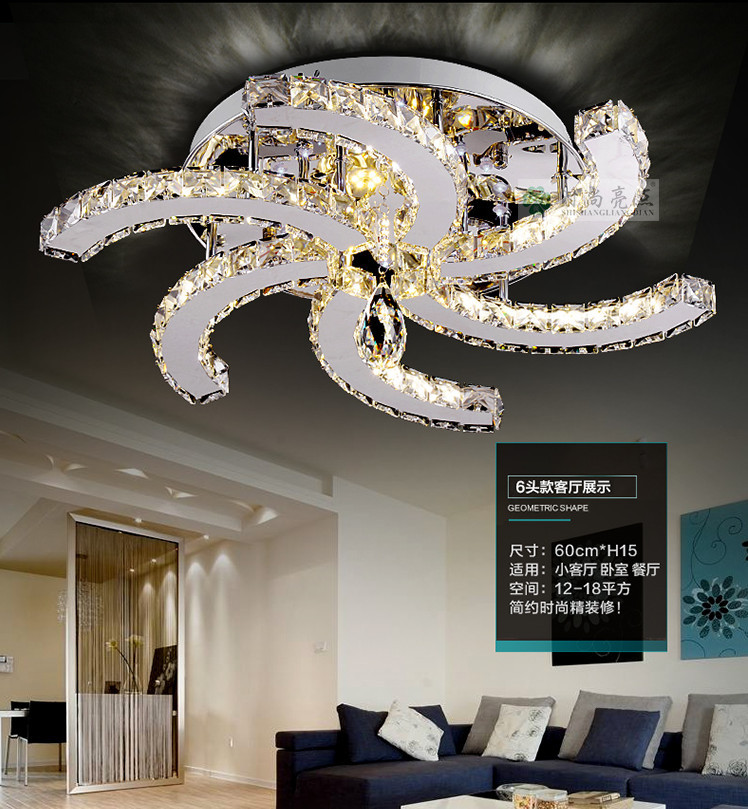 2015 New Modern Ceiling Fan Design LED Lustre Ceiling Lights For Living Room,simple  Lustre Crystal Ceiling Light For Bedroom In Ceiling Lights From Lights ...