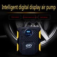 2018 New Digital Display Auto Car Tire Inflator 12V Electric Car Air Compressor Pump LED Light Digital Inflatable Pump
