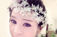 Hot Sprzedaż!!! Garland Akrylowe Pearl Kwiat Floral Garland Ślubne panny młodej Kwiat Do Włosów Akcesoria Do Włosów dla Kobiet * Darmowa Wysyłka *