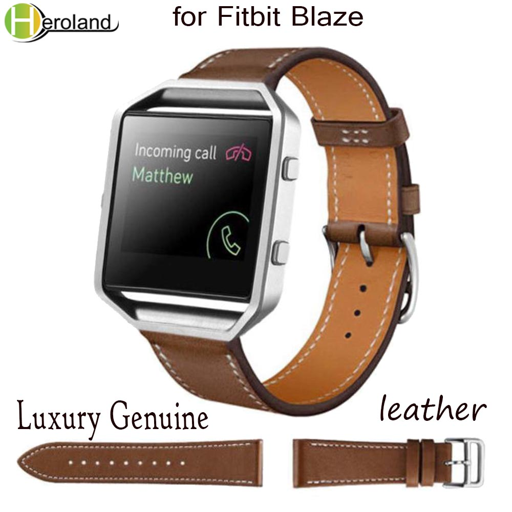 Genuine Leather Watch Band For Fitbit Blaze Wrist Strap Smart Sport Replacement Watch Strap 23mm Accessories Luxury PU Leather