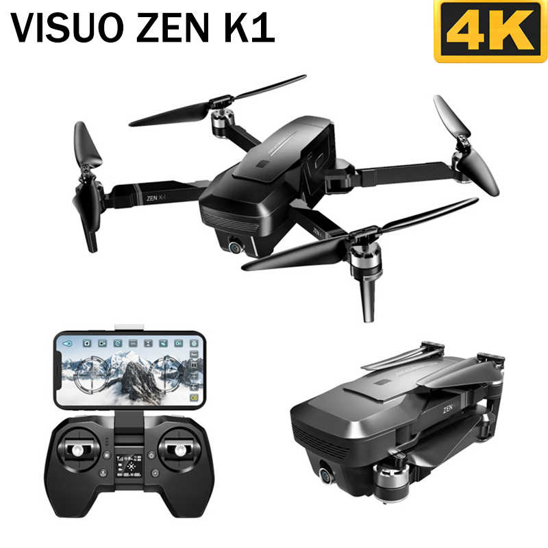 VISUO ZEN K1 5G WIFI FPV GPS With 4K 720P HD Dual Camera 90 Degrees Wide Angle Brushless Foldable RC Drone Quadcopter