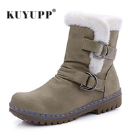 Vintage Style Women Boots Leather Flat Ankle Boots Short Plush Women S Shoes Double Buckle Wedge