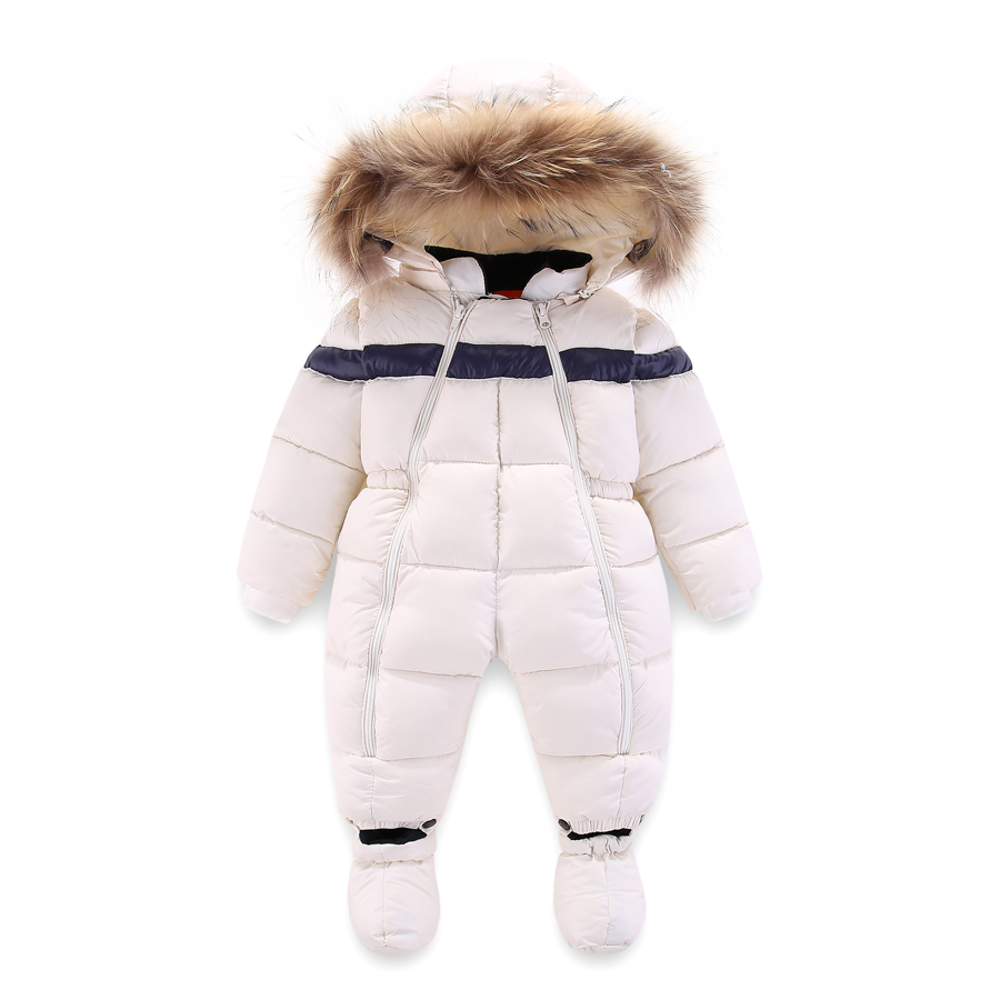 ecea2095b Newest Russia Winter Baby Rompers Toddler Boys Girls Thicken Warm Infant Snowsuit  Kid Jumpsuit Children Outerwear ...