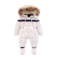 Newest Russia Winter Baby Rompers Toddler Boys Girls Thicken Warm Infant Snowsuit Kid Jumpsuit Children Outerwear for 1 3 Years