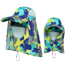Fishing Sun Protect Cap Summer Hat Outdoor Sport Hiking Visor Hat UV Protection Face Neck Cover Fishing Sun Protection Cap unisex summer sun hat sun protection foldable hat riding cap outdoor hunting fishing cap hat for cycling running daily sports