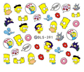 DIY Water Transfer Foils Nail Art Sticker Fashion Nails Harajuku Duck Despicable Me Decals Minx Nail Decorations