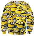 New fashion autumn Minions sweatshirt 3d print minions clothes women/men pullover hoodie long shirt crewneck hoody sale