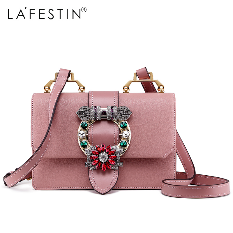 LAFESTIN 2018 Women Shoulder Bag Brand Designer Diamonds Ladies Real  Leather Crossbody Bag Luxury Totes Bag bolsa-in Shoulder Bags from Luggage    Bags on ... 109e1b306e217