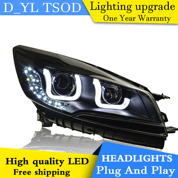 Car Styling Headlights for Ford Kuga 2013-2015 LED Headlight Kuga Head Lamp LED Daytime Running Light LED DRL Bi-Xenon HID