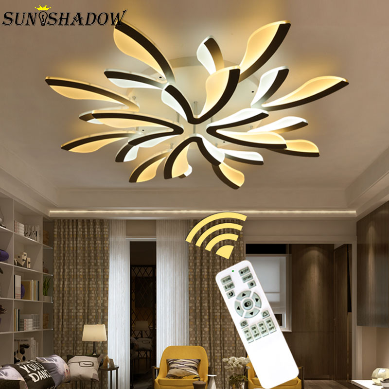 Creative Acrylic Modern Led Chandeliers For Living room Bedroom Kitchen Fixtures Surface Mounted Led Ceiling Chandelier
