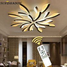 Creative Acrylic Modern Led Chandeliers For Living room Bedroom Kitchen Fixtures Surface Mounted Ceiling Chandelier