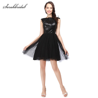 Real Photo Sexy Open Back Homecoming Short Dresses Lace Crystal Sequined Party Gown 8th grade formal Dresses SLD389