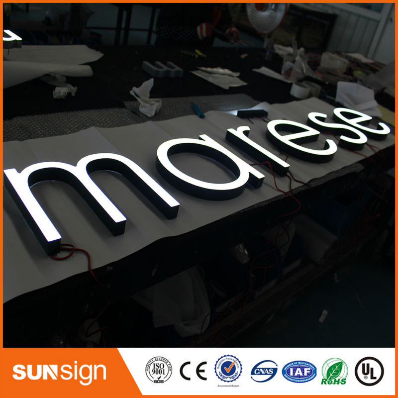 Frontlit A Acrylic With Led Sign