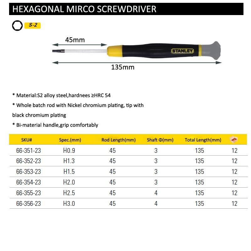 hexagonal micro screwdriver