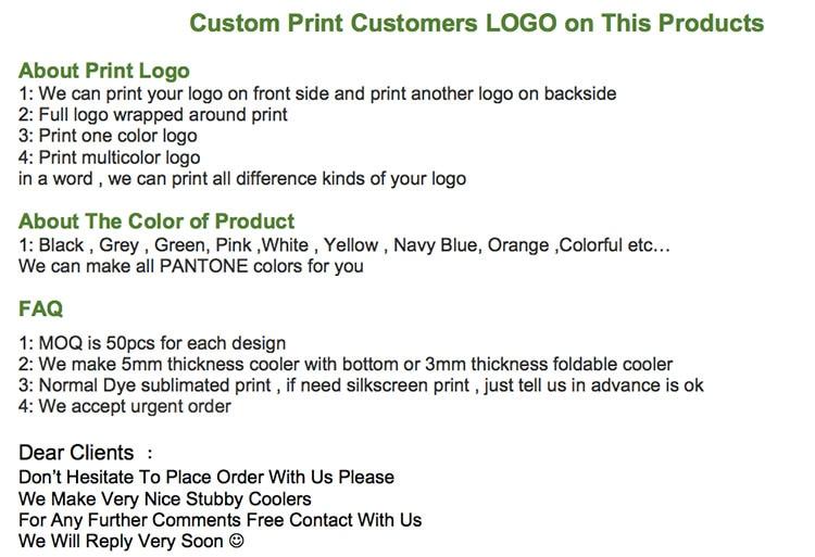 200 pcs Dobrável Coolers Pode Imprimir Seu