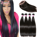 Indian Straight Hair With Frontal Closure 360 Lace Frontal With Bundle Straight Hair 4 Bundles With 360 Closure Straight Hair