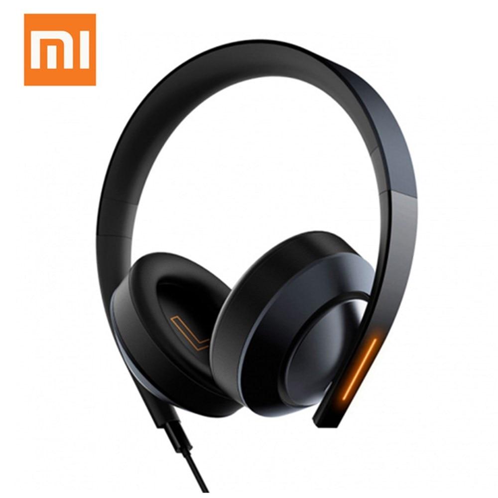 Original Xiaomi Mi Gaming Headphones 3.5mm USB Hi-fi Headset Dual-Mic Led Light Noise Cancelling Volume Control For Laptop Phone mi headphones comfort white