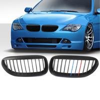 Matte Black M Color Front Grille Grill For BMW E63 E64 645i 650i M6 2 Door 2005 2006 2007 2008 2009 2010