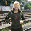 Hooded Women Loose Jacket 2017 Spring Autumn Jackets Women Fashion Women Short Jacket Green Jackets For