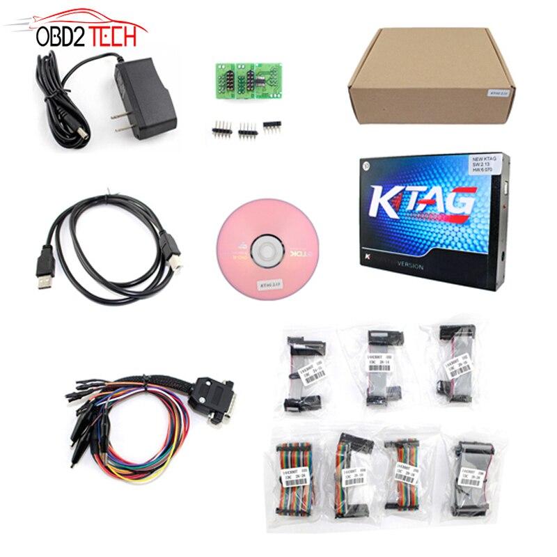 ФОТО Free Shipping Unlimited Token  Multi-language K-tag V6.070 Master V2.13 ECU Programming Tool KTAG OBD2 Manager Tuning Kit