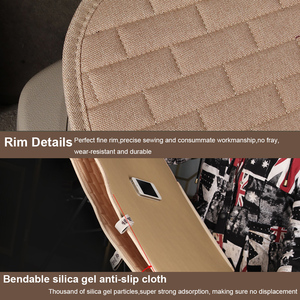 Image 4 - Dewtreetali 2018 Hot  Linen Fabric Car Seat Cover Four Seasons Front Rear Flax Cushion Breathable Protector Mat Pad
