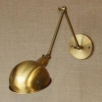 Double arm restaurant RETRO art bronze decorative lamp lampshade loft modern minimalist wall lamp GY137