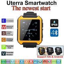 Waterproof Bluetooth Smartwatch Pedometer Compass IPS Screen WristWatch U Watch Uterra for iPhone IOS Android Smartphones