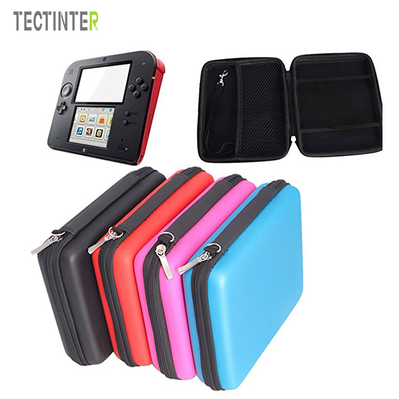 EVA Protector Hard Case For 2DS Game Console Storage Zip Protective Holder Case Bag For Nintend Game Card Shell