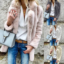 Hot Women Winter Sweater Long Sleeves Turn-down Collar Downy Autumn Overcoat Cardigan CGU 88