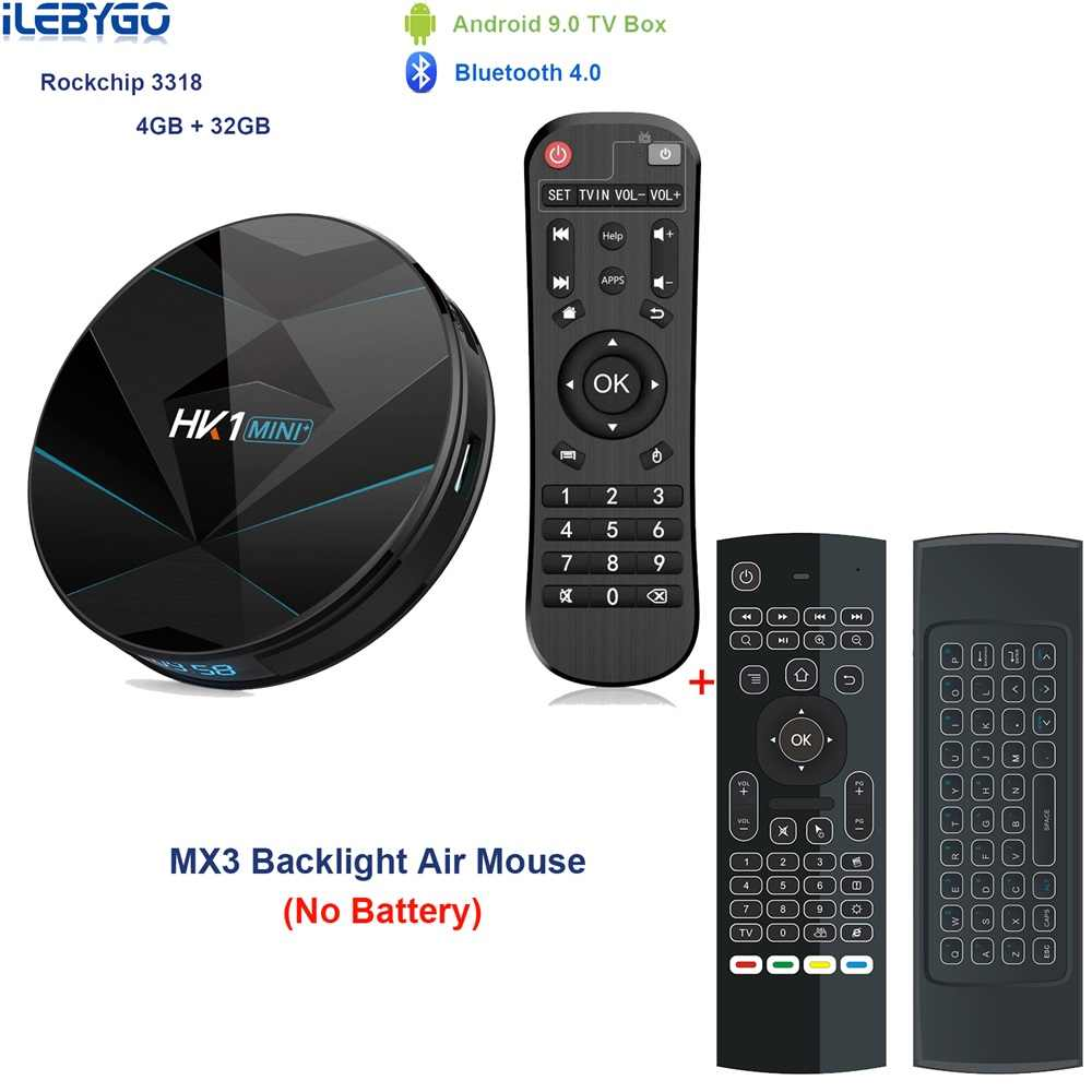 HK1 mini Plus Android 9 0 TV Box 4GB 64GB RK3318 4 Core 2 4G/5G Wifi 4K HD  Set Top Box HK1 MINI MAX 4G 32G 100M 3 0 USD Ott Play