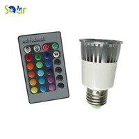 E27 RGB 5 W קרי אור Led ספוט AC110V 127 V 220 V הנורה הלוגן מנורת צבע מרובה שלט רחוק בית אמנות תאורה