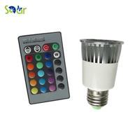E27 RGB 5 W Cree Led Spot light AC110V 127 V 220 V Lámpara Halógena Bombilla Color Múltiple de Control Remoto Home Art iluminación