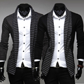The new fashion mens sweaters,stripe color sweater men,Men's leisure long-sleeved knitted cardigan men,free shipping