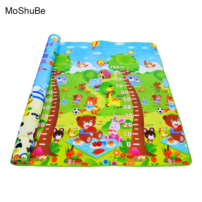 0.5cm Baby Educational Alphabet Game Rug Bear Crawling Blanket Play Mat , EVA Foam Mat For Children Puzzle Activity Gym Carpet