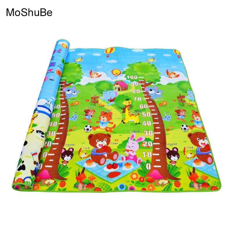 0.5cm Baby Educational Alphabet Game Rug Bear Crawling Blanket  Play Mat , EVA Foam Mat For Children Puzzle Activity Gym Carpet
