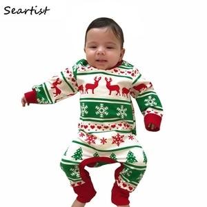 2021New noworodka ubrania dziewczynek chłopców boże narodzenie Romper niemowląt jesień zima kombinezony dzieci Xmas renifer piżamy 30