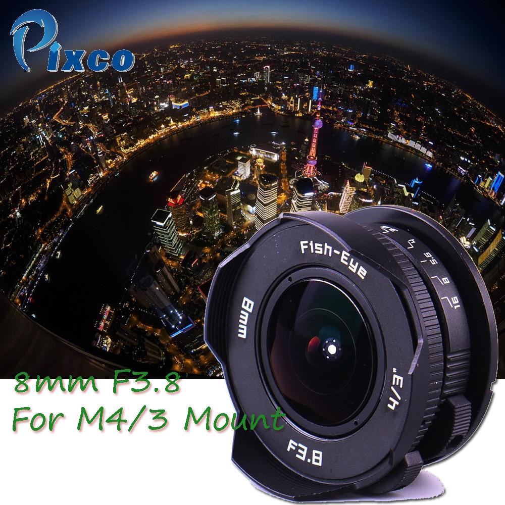 Galleria fotografica Pixco per Micro4/3 Camera, 8mm F3.8 Fish-eye CC TV Obiettivo vestito Per Micro Quattro Terzi Fotocamera, per <font><b>Panasonic</b></font> per Olympus GX8