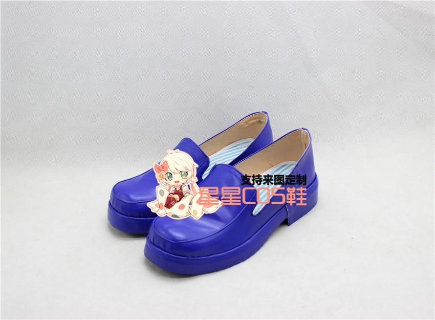 HUNTER HUNTER Neferpitou Purple Adult Halloween Cosplay Shoes Boots X002