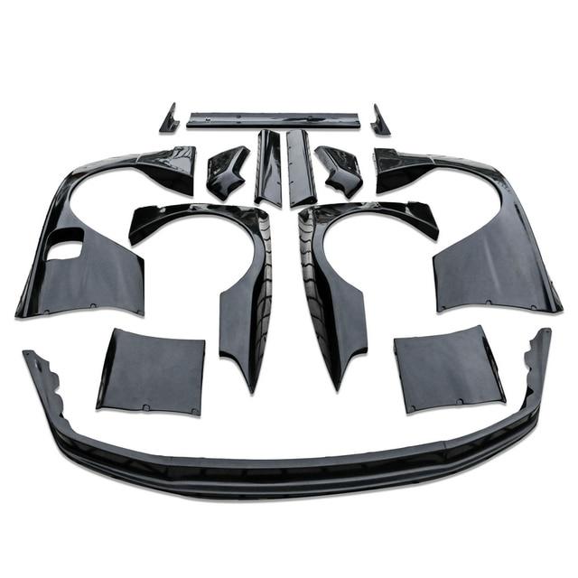 Skyline R32 RB Fiberglass FRP Fiber Glass Front Splitter And Rear Fender  With Extension Side Skirt Trunk Wing Body Kit