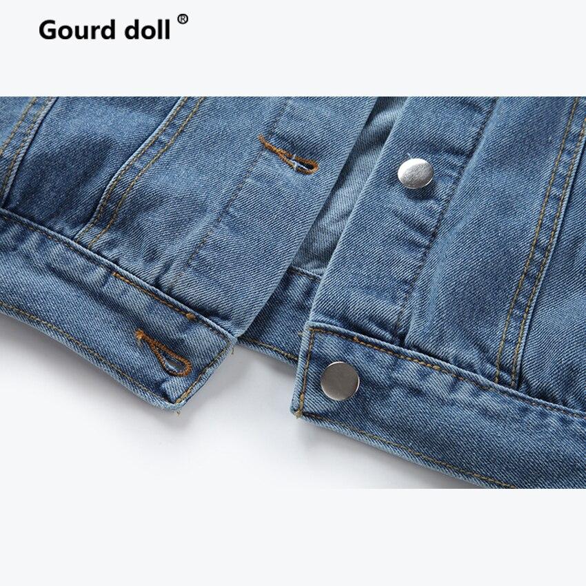 2018 Mode Bf Femmes Royal Blus Étudiant À Femelle Denim Manches Marée Lâche Sauvage Vent De Longues Bleu Veste Tops Nouveau Rétro gwdpXqxq